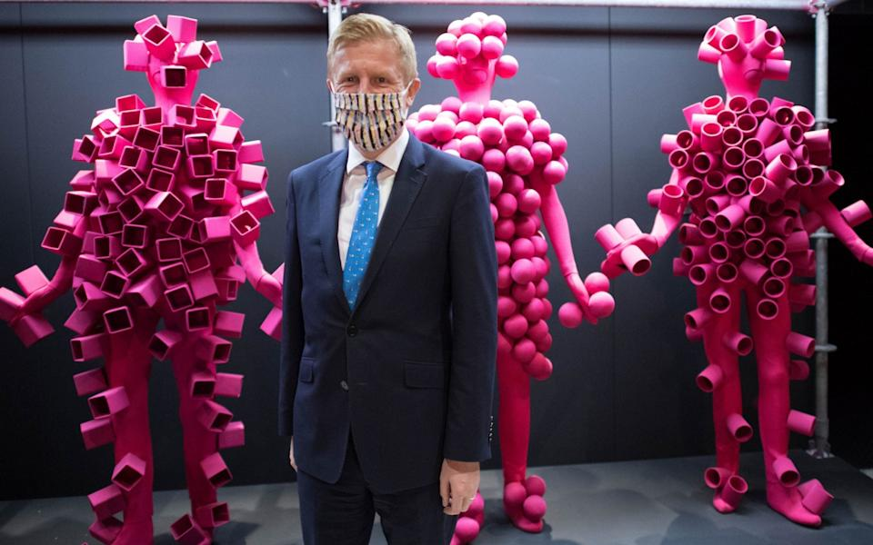 Culture Secretary Oliver Dowden during a visit to the Design Museum, London, ahead of an announcement of the latest round of grants from the Culture Recovery Fund. The museum will be receiving a GBP 3 million grant - PA
