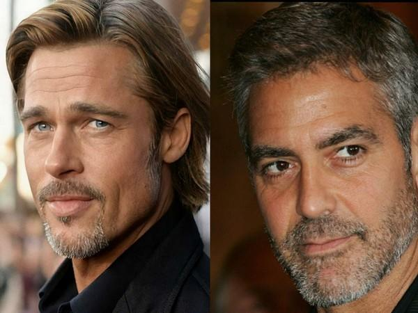 Brad Pitt and George Clooney (Image source: Instagram)
