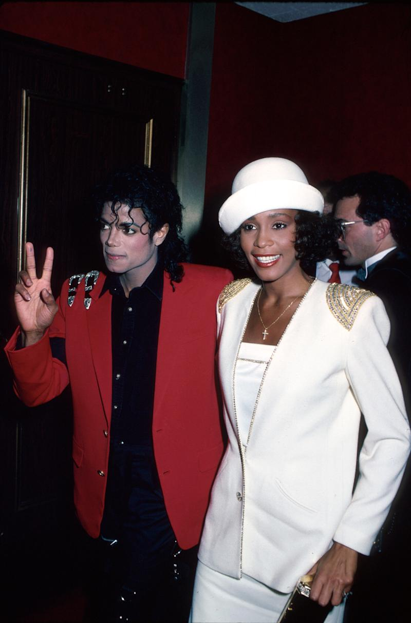 Singers Michael Jackson and Whitney Houston. (Photo: Time Life Pictures/DMI/The LIFE Picture Collection via Getty Images)
