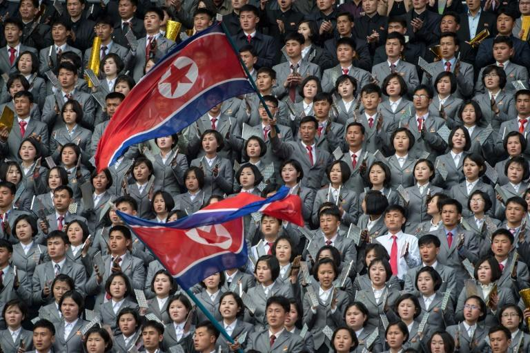 The teams are expected to step out onto Kim Il Sung Stadium turf on Tuesday (AFP Photo/KIM WON-JIN)