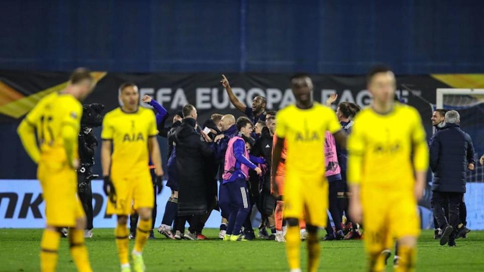 El Tottenham cayó en Zágreb | Pixsell/MB Media/Getty Images