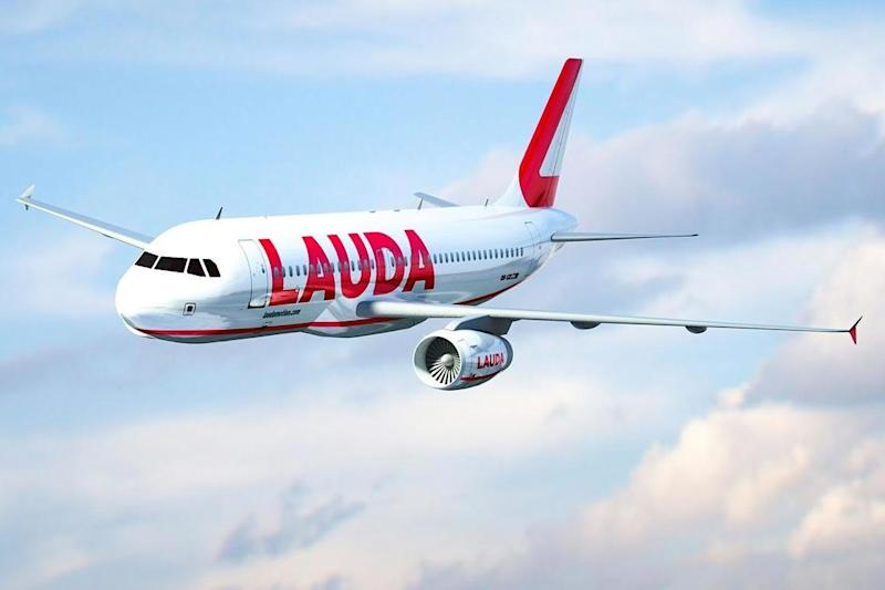 Flying high: an Airbus A320 belonging to Laudamotion, part of the Ryanair Group: Simon Calder