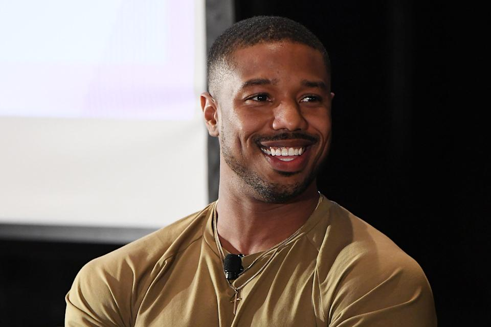 Michael B. Jordan made a surprise stop at a school in Alabama. (Photo: Getty Images)