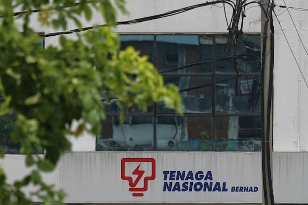 The Tenaga Nasional Berhad (TNB) logo is seen on a building in Kuala Lumpur April 29, 2016. — Picture by Saw Siow Feng