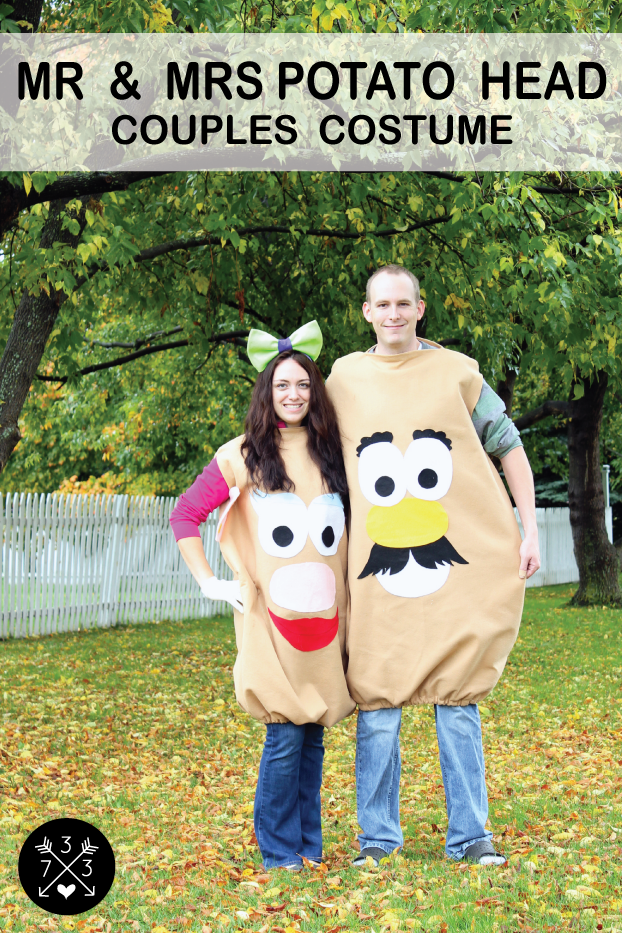 """<p>Grab your special someone to complete this cute couple's costume. Believe it or not, it costs less than $9 to make both outfits.</p><p><strong>Get the tutorial at <a href=""""https://www.inspirationmadesimple.com/2012/10/meet-mr-mrs/"""" rel=""""nofollow noopener"""" target=""""_blank"""" data-ylk=""""slk:Inspiration Made Simple"""" class=""""link rapid-noclick-resp"""">Inspiration Made Simple</a>.</strong> </p>"""