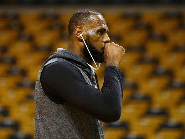 LeBron James, somehow, is just warming up. (Getty Images)