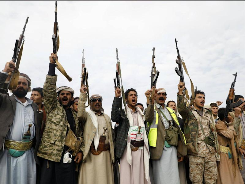 Houthi rebels, Saudi Arabia claims, fired an Iranian missile towards Riyadh on 4 November. Iran has denied supplying the weapons: STRINGER/AFP/Getty Images