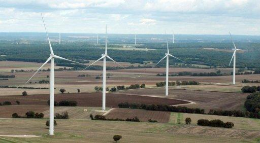 Wind turbines between Poitiers and Angouleme in France. Nearly 200 nations launched a fresh round of United Nations climate talks in Doha on Monday faced with appeals for urgency in their efforts to reduce Earth-warming greenhouse gas emissions
