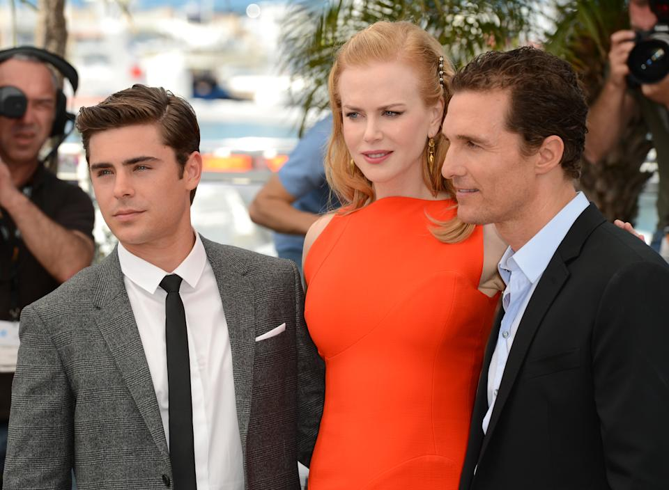 Zac Efron, Nicole Kidman and Matthew McConaughey at the photocall for The Paperboy at the Palais de Festival. Part of the 65th Cannes Film Festival. Copyright Doug Peters EMPICS Entertainment