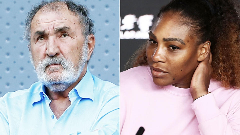 Serena Williams and Ion Tiriac, pictured here at the Madrid Open.
