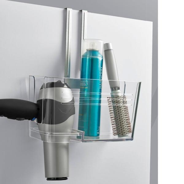 <p>Use this <span>Umbra Hide &amp; Sink Under Sink Caddy</span> ($20) for your hair tools, cleaning products, and more. It hangs right on your cabinet door and lets you get more storage out of your space. </p>
