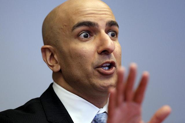 FILE PHOTO: Minneapolis Fed President Neel Kashkari speaks during an interview at Reuters in New York February 17, 2016. REUTERS/Brendan McDermid/File Photo