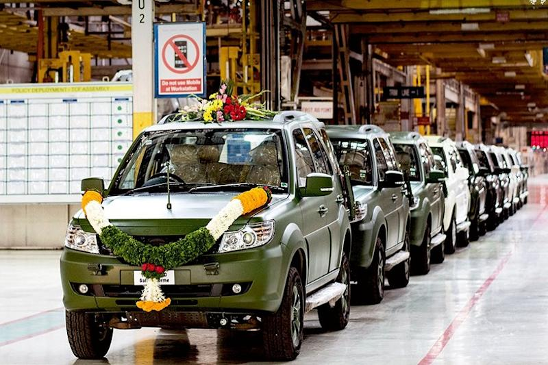 1500th Tata Safari Storme for the Indian Army. (Image: Tata Motors)