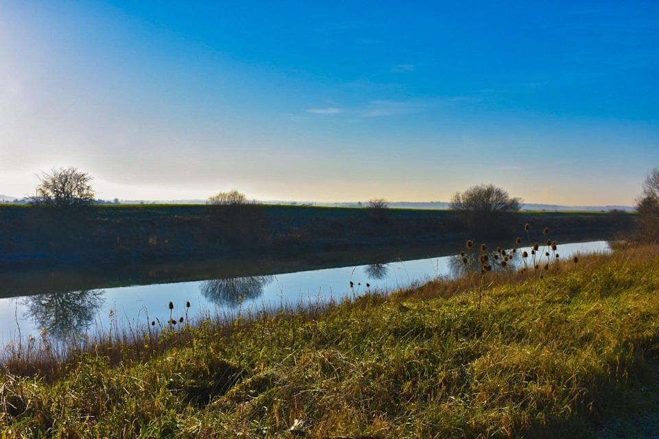 The River Witham from the 33-mile Water Rail Way cycle path running from Lincoln to BostonSadie Whitelocks