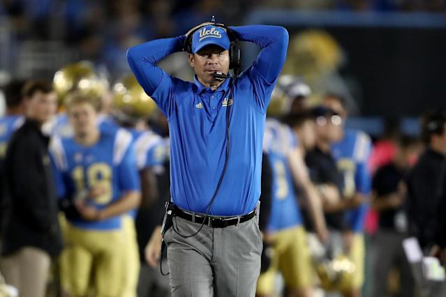 Will UCLA's Jim Mora rebound after the Bruins' 4-8 season last year? (Getty)