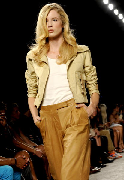The Billy Reid Spring 2013 collection is modeled during Fashion Week, Friday, Sept. 7, 2012, in New York. (AP Photo/Louis Lanzano)