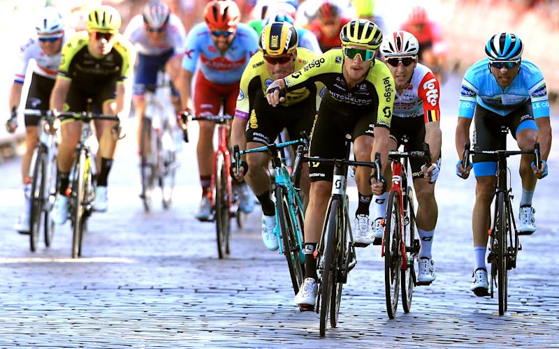 Matteo Trentin won stage two at the OVO Energy Tour of Britain on Sunday - 2019 Getty Images
