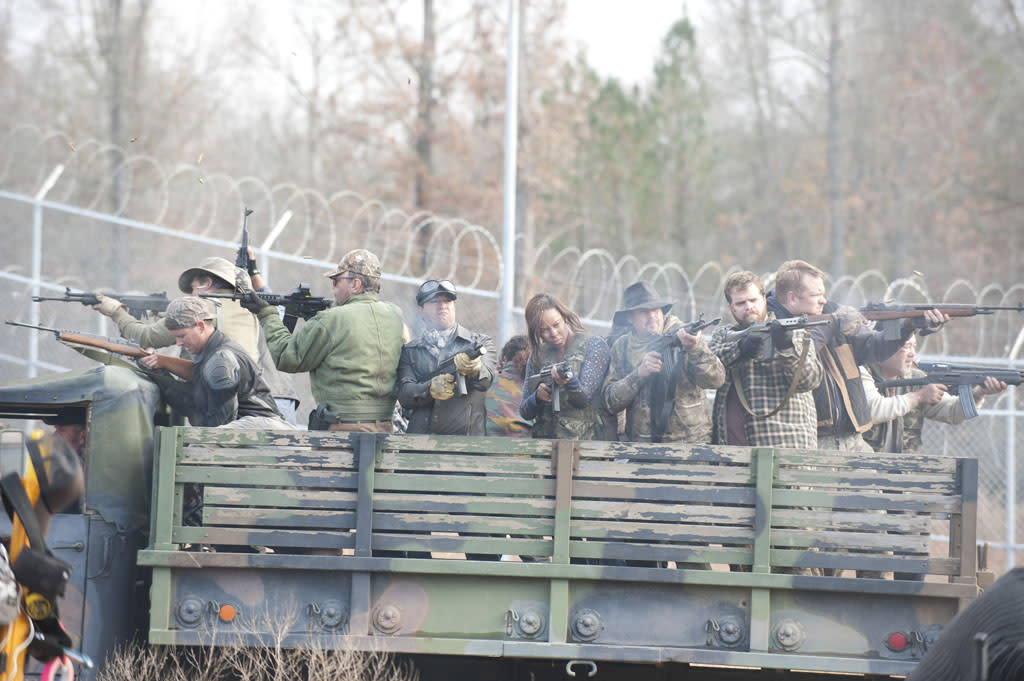 "The People of Woodbury in ""The Walking Dead"" Season 3 Finale, ""Welcome to the Tombs."""