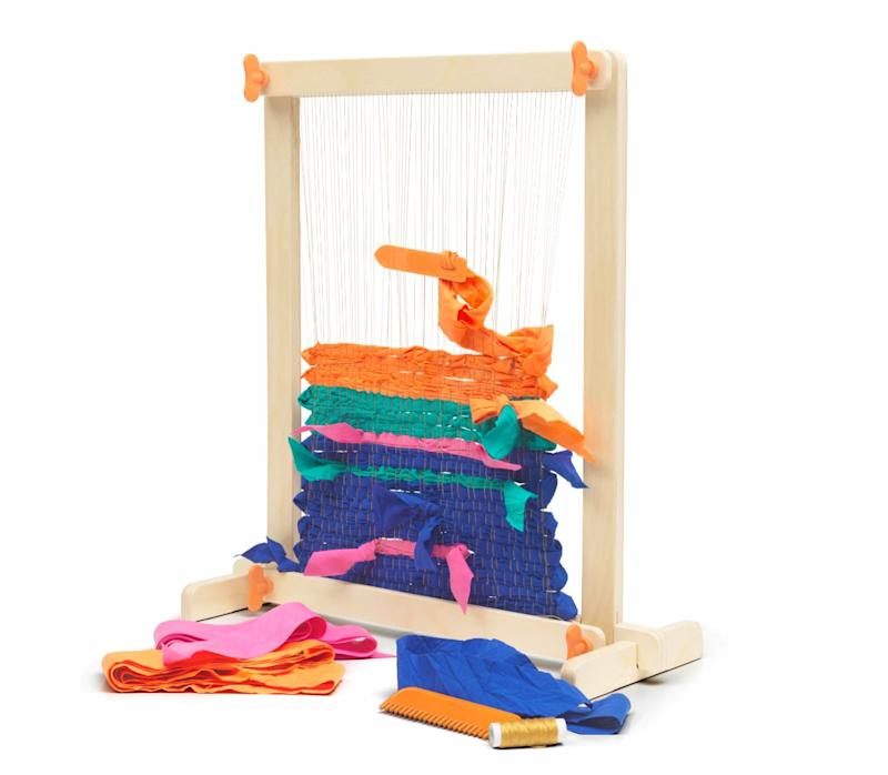 "With the weaving loom you can weave everything from yarn and shoe strings to plastic bags.&nbsp;<strong>Ages:</strong> 6+&nbsp;<strong>Get it at:</strong> <a href=""https://www.ikea.com/ca/en/p/lustigt-7-piece-weaving-loom-set-00387054/"" target=""_blank"" rel=""noopener noreferrer"">IKEA,</a> $19.99"