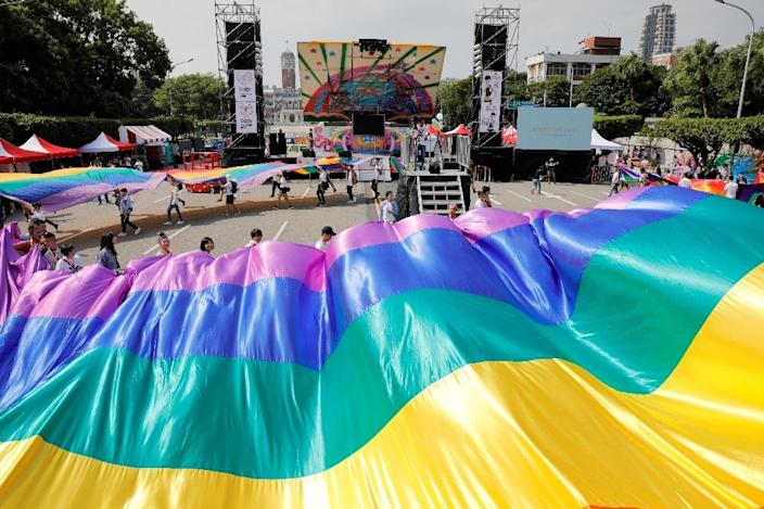 Taiwan's top court legalised same-sex marriage in 2017, in a first for Asia (AFP Photo/Daniel Shih)