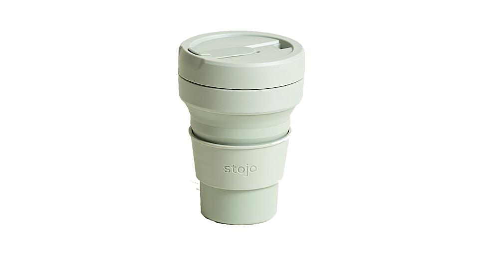 Stojo Sage Green Collapsible Cup