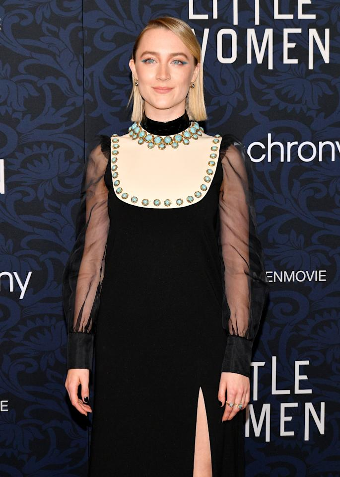 <p>Pictured: Saoirse Ronan at the <strong>Little Women</strong> world premiere.</p>