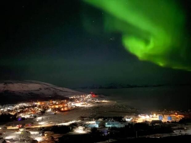 The northern lights are seen over Nain, the northernmost community on Labrador's coast.