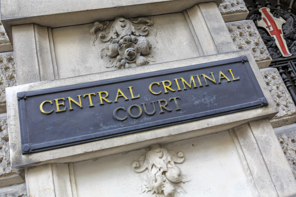 View of the main facade of Old Bailey the Central Criminal Court of England and Wales