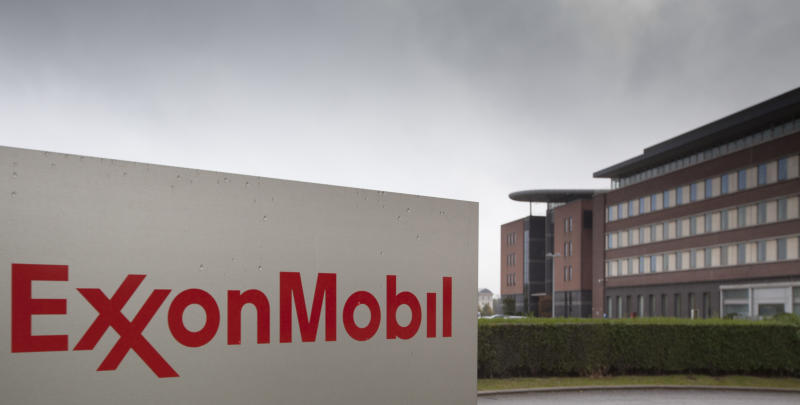 The headquarters of ExxonMobil is seen in Brussels on Friday, Oct. 26, 2012. Belgian authorities are seeking the public's help in solving the killing of an executive for ExxonMobil, the world's largest oil company, who was shot to death in front of his wife nearly two weeks ago on a street in a suburb of the Belgian capital of Brussels. Nicholas Mockford, a British national, was shot on Oct. 14 as he left an Italian restaurant in Neder-over-Heembeek. Belgian authorities declined to provide information on the crime, which they said was common in investigations of serious crimes. (AP Photo/Virginia Mayo)