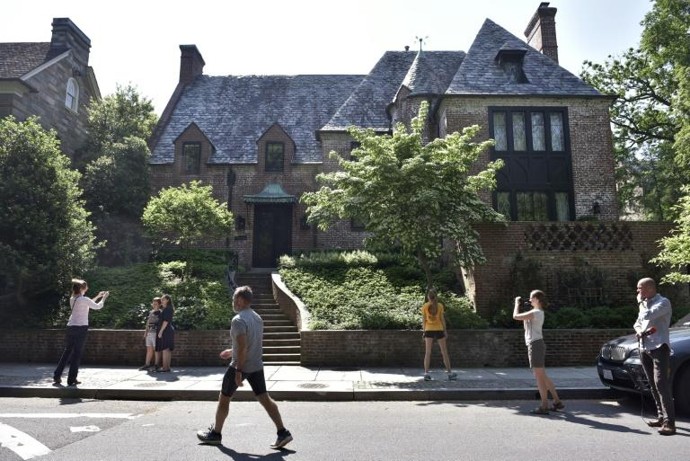 A house in the Kalorama neighbourhood in Washington, DC, where former US President Barack Obama has chosen to live