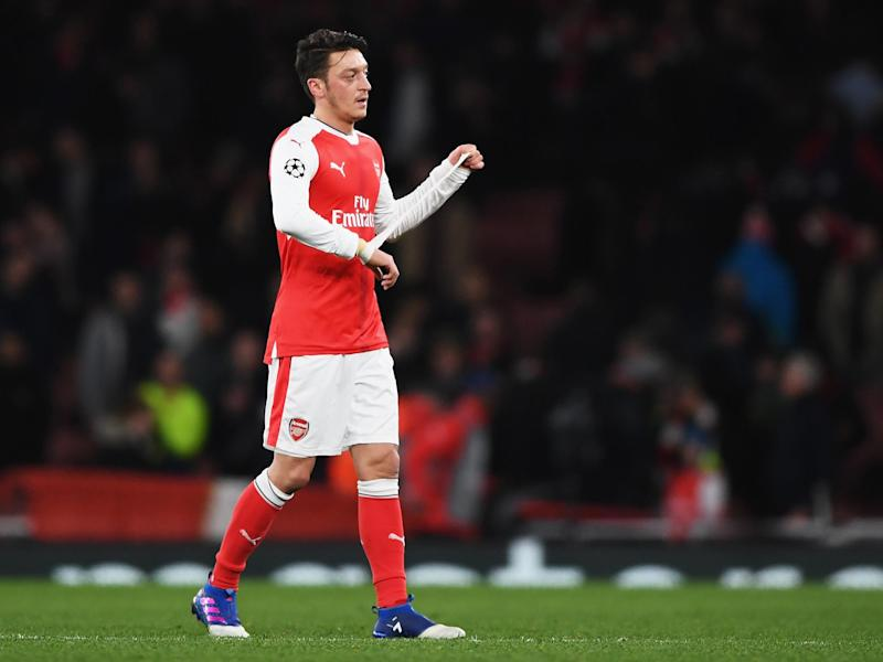 Ozil admitted his performances weren't good enough in the Champions League: Getty