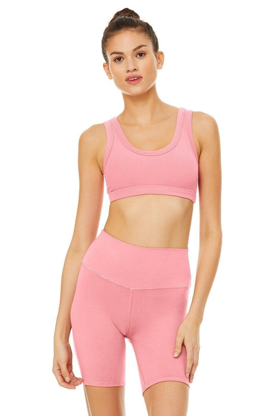 <p>How cute is the color of this <span>Alo Wellness Bra</span> ($62) and <span>High Waist Biker Short</span> ($56)?</p>