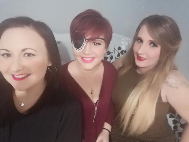Toni's friends Louise (left) and Becky (right) have created a Go Fund Me campaign to raise money so she can create memories with her children before she dies (Toni Crews)