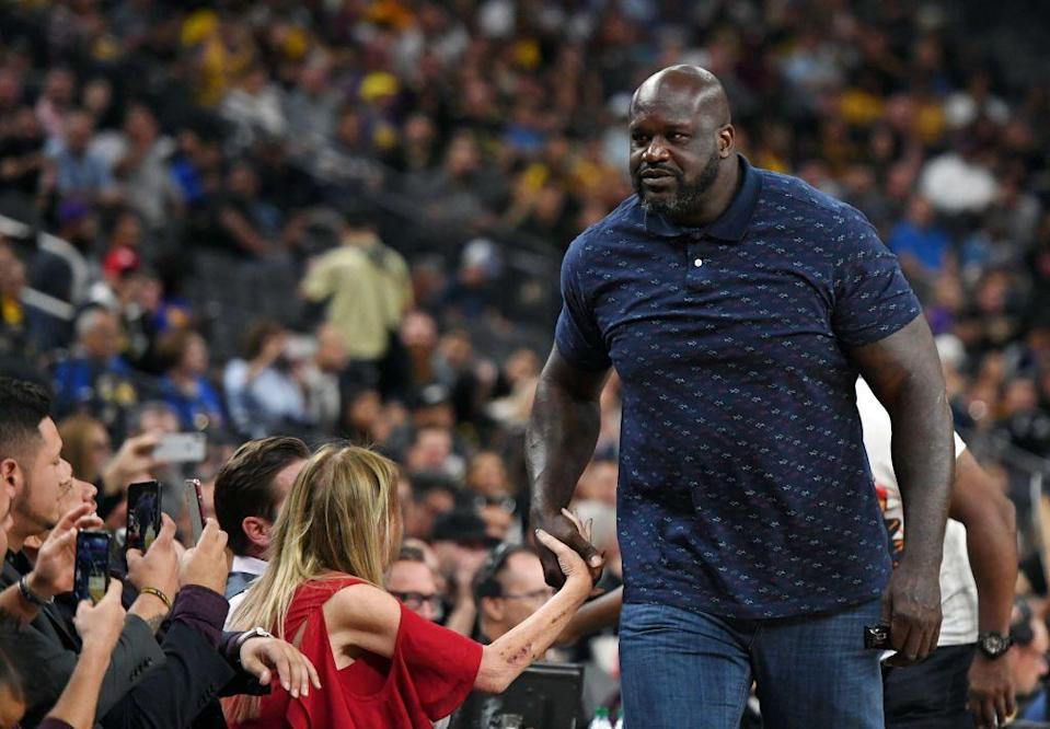 Shaquille O'Neal is nothing if not inconsistent.  (Getty Images)