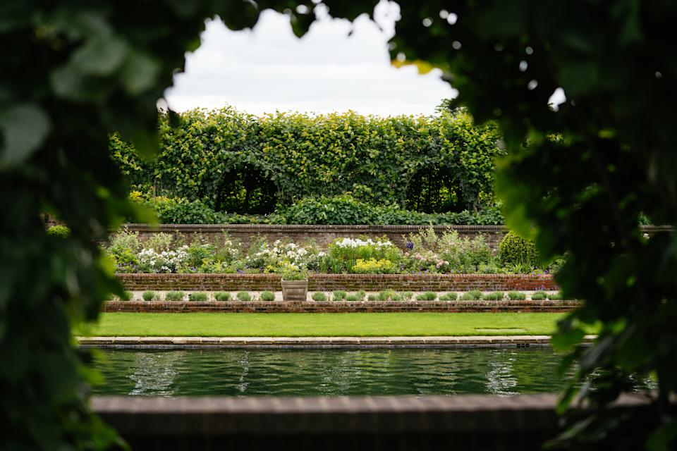 The team have planted hundreds of flowers, including many of the princess's favourite. (Kensington Palace)
