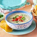 """<p>Ree <em>loves</em> queso, and who could blame her? This easy, cheesy recipe only calls for a few ingredients and is ready in about an hour.</p><p><a href=""""https://www.thepioneerwoman.com/food-cooking/recipes/a36701023/queso-dip-recipe/"""" rel=""""nofollow noopener"""" target=""""_blank"""" data-ylk=""""slk:Get the recipe."""" class=""""link rapid-noclick-resp""""><strong>Get the recipe.</strong></a></p>"""