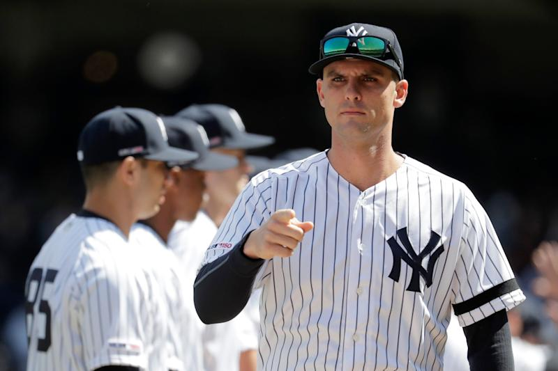 Greg Bird is out of commission with a plantar fascia tear, and he joins 11 other Yankees on the injured list. (AP Photo/Julio Cortez)