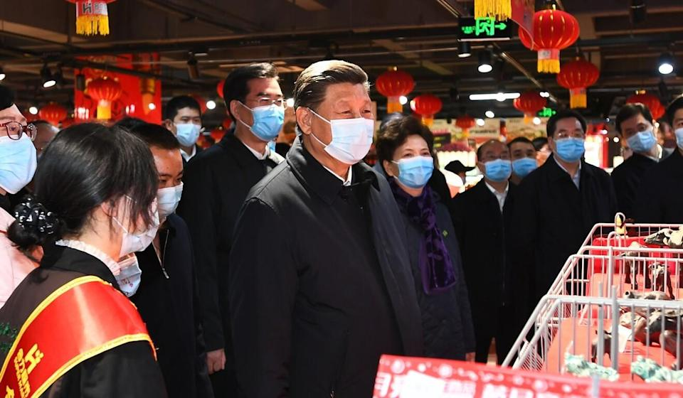 Chinese President Xi Jinping, seen at a supermarket in Guizhou province on Thursday, still has not spoken with US President Joe Biden. Photo: Xinhua
