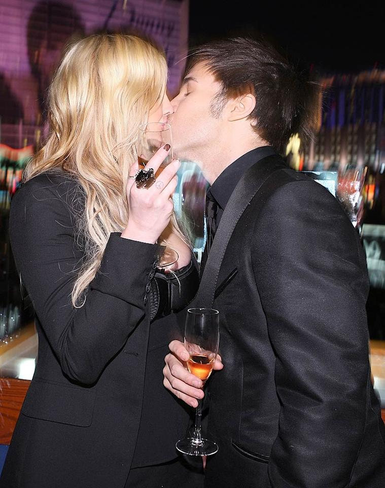 """Ashlee Simpson gave husband Pete Wentz a passionate kiss at midnight. The new parents partied it up at PURE in Las Vegas. Chris Weeks/<a href=""""http://www.wireimage.com"""" target=""""new"""">WireImage.com</a> - December 31, 2008"""