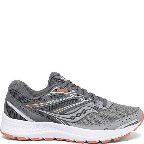 """<p><strong>Saucony</strong></p><p>amazon.com</p><p><strong>$50.30</strong></p><p><a href=""""https://www.amazon.com/dp/B081R5YZB8?tag=syn-yahoo-20&ascsubtag=%5Bartid%7C2141.g.34362202%5Bsrc%7Cyahoo-us"""" rel=""""nofollow noopener"""" target=""""_blank"""" data-ylk=""""slk:Shop Now"""" class=""""link rapid-noclick-resp"""">Shop Now</a></p><p>Decked out with a thick rubber, grid technology, and VersaFoam cushioning, this pair strikes a happy medium between soft and supportive.</p>"""
