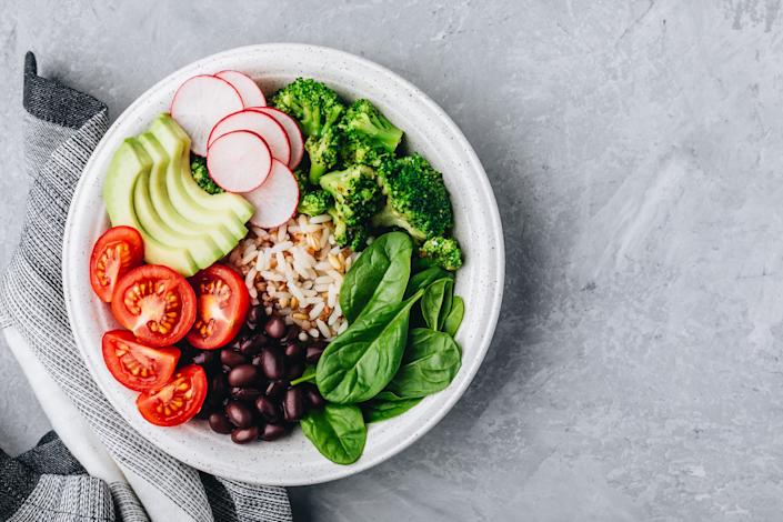 Eating more vegetables, fruits, nuts and beans, which are packed with fiber, antioxidants and other important nutrients, is good for your heart. (Photo: Getty)