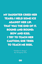<p>My daughter cried her tears;</p><p>I held some ice against her lip.</p><p>That was the end of it.</p><p>Round and round: bow and kiss.</p><p>I try to teach her caution;</p><p>She tries to teach me risk.</p>