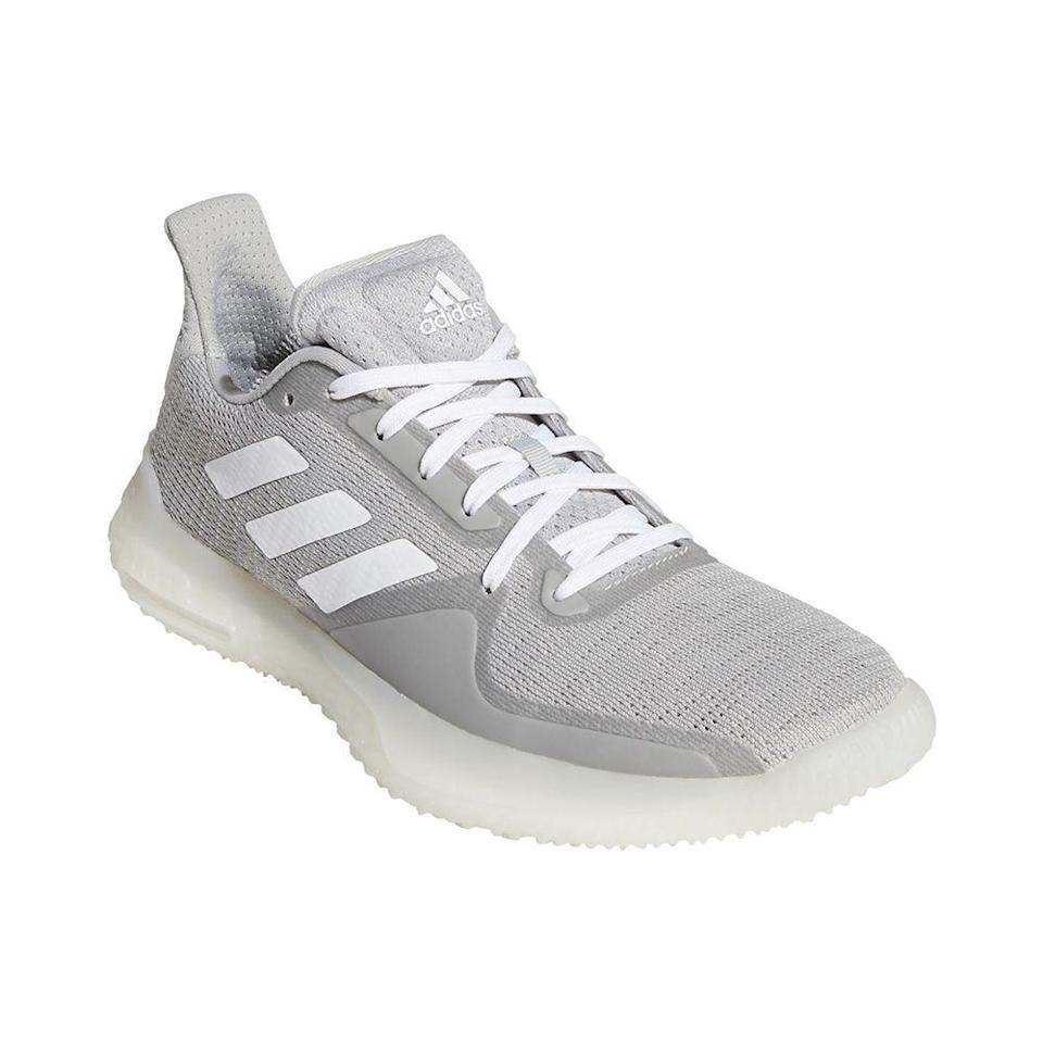 """<p><strong>adidas</strong></p><p>dickssportinggoods.com</p><p><strong>$119.99</strong></p><p><a href=""""https://go.redirectingat.com?id=74968X1596630&url=https%3A%2F%2Fwww.dickssportinggoods.com%2Fp%2Fadidas-womens-fitboost-trainer-training-shoes-20adiwfttrnrgrycrbsk%2F20adiwfttrnrgrycrbsk&sref=https%3A%2F%2Fwww.prevention.com%2Ffitness%2Fworkout-clothes-gear%2Fg22749024%2Fbest-cross-training-shoes-for-women%2F"""" rel=""""nofollow noopener"""" target=""""_blank"""" data-ylk=""""slk:Shop Now"""" class=""""link rapid-noclick-resp"""">Shop Now</a></p><p>Complete with the brand's Boost technology, these Adidas training shoes not only feel super comfortable to workout in, but they also have their own kind of shock absorption. The Boost midsole <strong>absorbs the kinetic energy you release with each step before firing it back out</strong>, providing another level of responsiveness. These everyday training shoes also come packed with sought-after features like a thick, sturdy outsole, TPU overlays for extra stability, and a breathable design in the mesh upper. </p><p>An Adidas customer says, """"So happy with these. They are super comfortable, uniquely stylish without being super flashy. These are definitely great gym shoes. Description was on point. The only thing I'm torn on is how wide they are around mid foot. But I'm willing to get used to that. New faves!""""</p>"""
