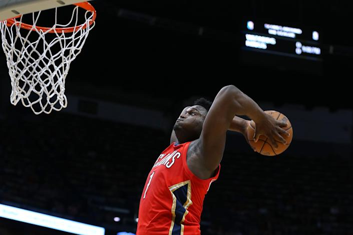 New Orleans Pelicans rookie Zion Williamson is expected to be released from quarantine sometime on Tuesday. (Jonathan Bachman/Getty Images)