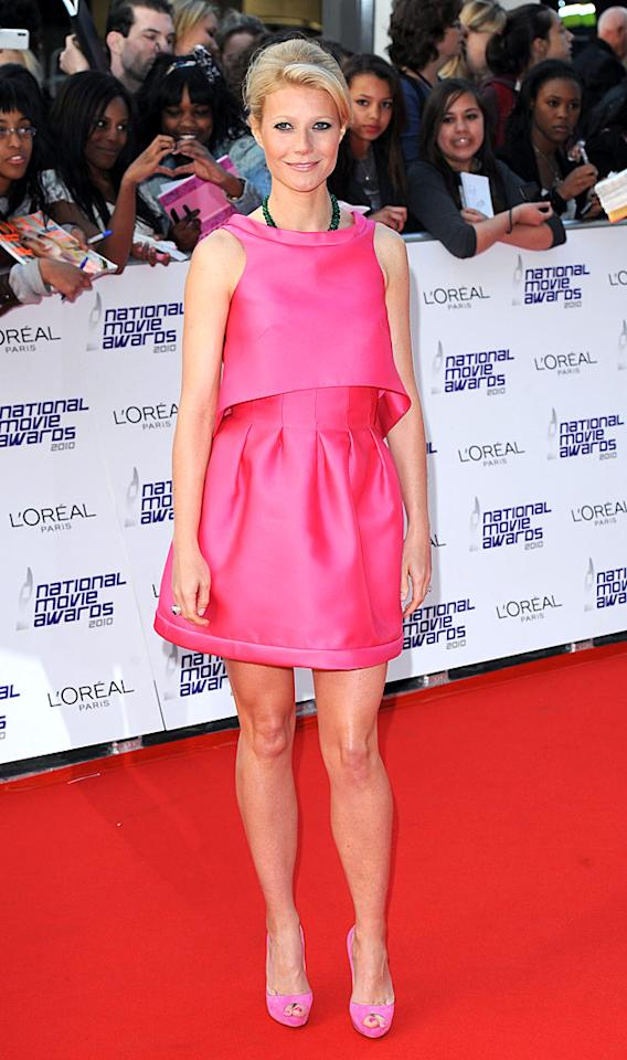 "Following in Emma's footsteps at the star-studded soiree was Oscar winner Gwyneth Paltrow, who stepped out of her comfort zone and into a surprisingly stunning Prada dress and bubblegum-pink peep-toes. James Higgins/<a href=""http://www.splashnewsonline.com"" target=""new"">Splash News</a> - May 26, 2010"