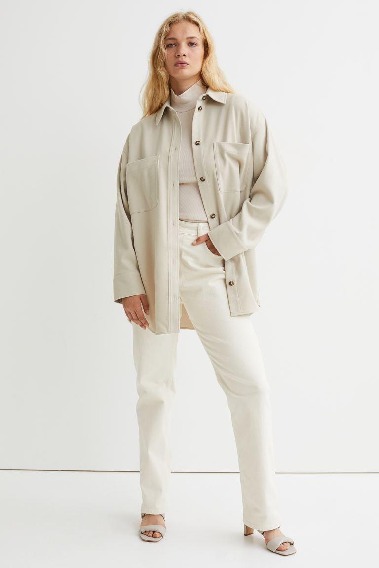 <p>This <span>H&amp;M Twill Shirt Jacket</span> ($40) is the perfect fall outer layer. It's cozy and comfortable, and gives any outfit an easy, effortless look.</p>