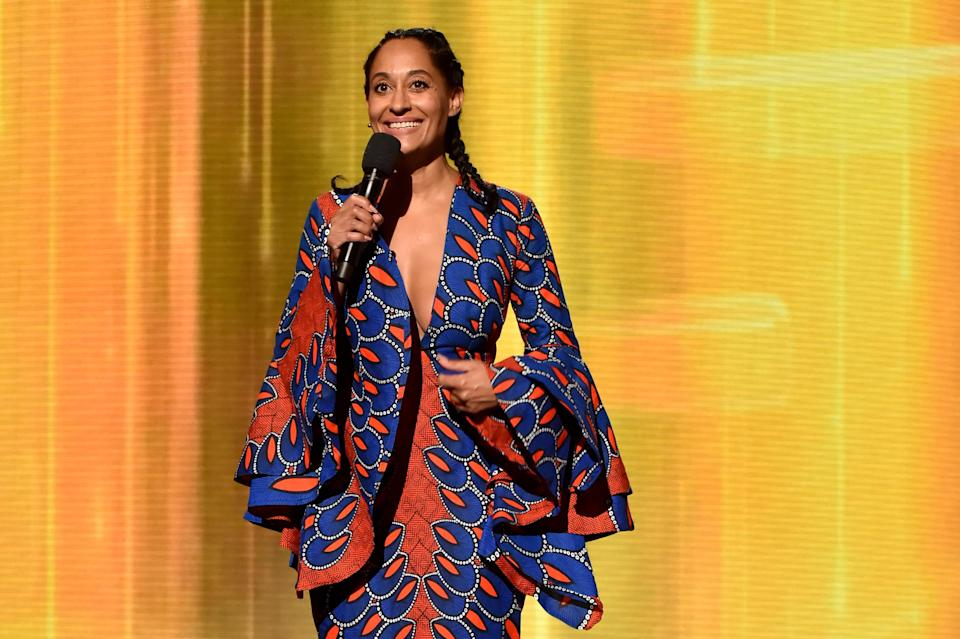Tracee Ellis Ross made a statement with clothes by black designers at the AMAs. (Photo: Getty Images)