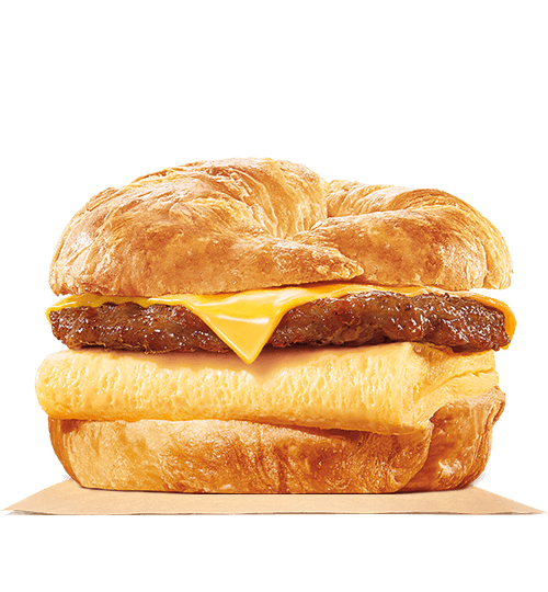 "<p>The No.1 worst item on our list comes from Burger King (similar to our <a rel=""nofollow"" href=""https://ca.style.yahoo.com/tagged/unhealthiestfood"">unhealthiest fast food burger</a> list). This croissan'wich is piled high with double sausage, eggs, and two helpings of melted cheese on a toasted, flaky croissant — it's also piled with sodium, calories and over a day's worth of saturated fat. <br /> — Calories: 726 <br /> — Fat: 53 g (Saturated Fat 21 g) <br /> — Carbohydrates: 33 g <br /> — Sodium: 1,523 mg <br /> — Sugar: 6 g <br /> — Source/photo: Burger King Canada </p>"