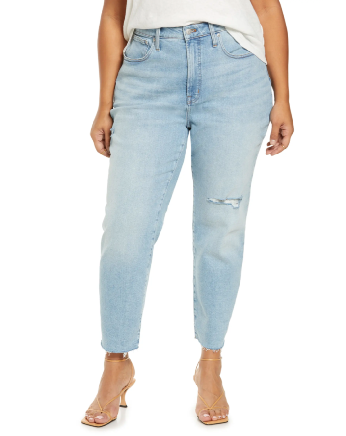 Madewell Curvy Perfect Worn-In Jeans (Photo via Nordstrom)