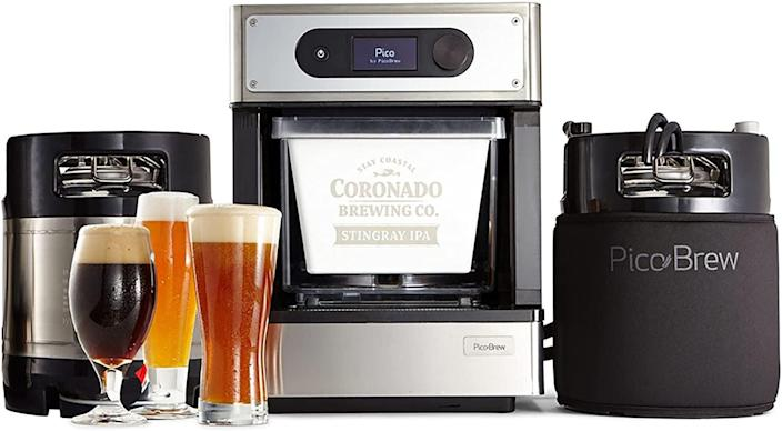 <p>Brew beer the easy way with the <span>PicoBrew Pro Craft Beer Brewing Appliance</span> ($463, originally $599). It's an automated brewing machine where you get everything you need to make craft beer at home.</p>